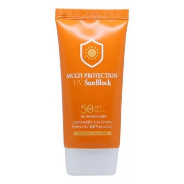 Солнцезащитный крем для лица с коллагеном 3W Clinic Multi Protection UV Sun Block SPF50+/PA+++