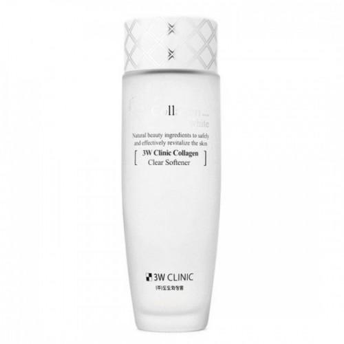 Отбеливающий тоник для лица с коллагеном 3W Clinic Collagen Whitening Clear Softener