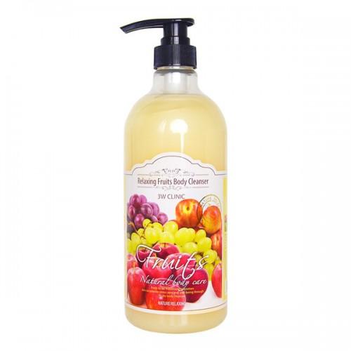 Гель для душа фруктовый 3W Clinic Relaxing Fruits Body Cleanser