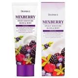 Крем для тела и рук питательный с лесными ягодами Deoproce Mixberry Sweet Moisture Hand & Body