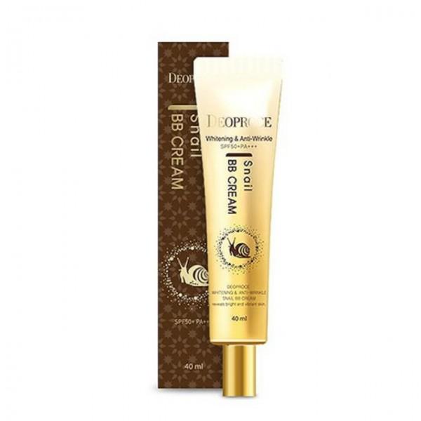 ВВ крем с экстрактом улитки Deoproce Whitening & Anti-Wrinkle Snail BB Cream