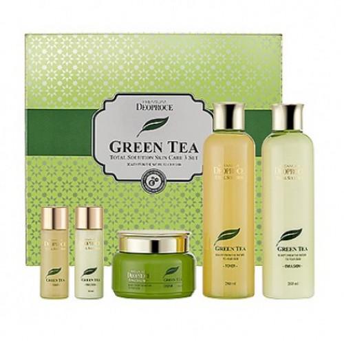 Набор средств с экстрактом зеленого чая Deoproce Premium Green Tea Total Solution 3 Set в Иркутске