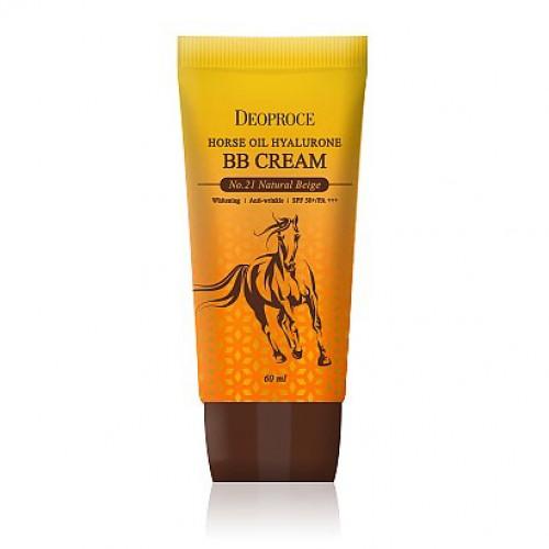 BB-крем с лошадиным маслом и гиалуроновой кислотой Deoproce Horse Oil Hyalurone BB Cream SPF50+/PA+++