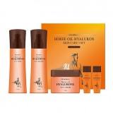 Набор для лица с лошадиным маслом и гиалуроновой кислотой Deoproce Horse Oil Hyalurone Skin Care 3 Set