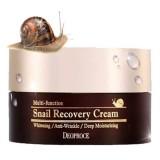 Многофункциональный восстанавливающий крем с муцином улитки Deoproce Multi-Function Snail Recovery Cream