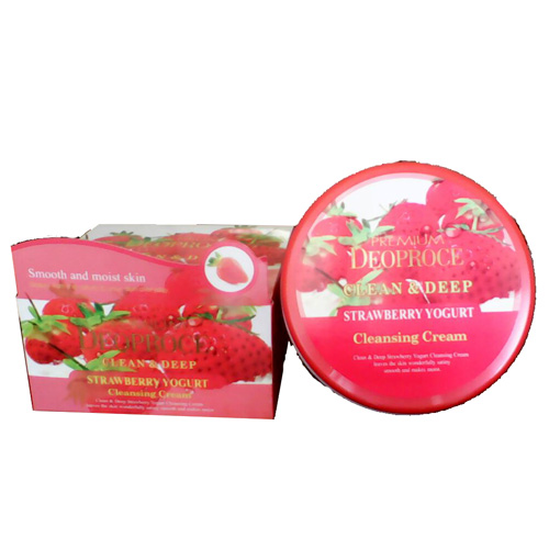 Очищающий крем с клубникой Deoproce Premium Clean & Deep Strawberry Cleansing Cream