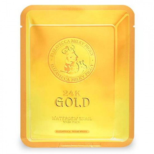 Маска-салфетка для лица с золотом и муцином улитки Elizavecca 24K Gold Water Dual Snail Mask в Иркутске