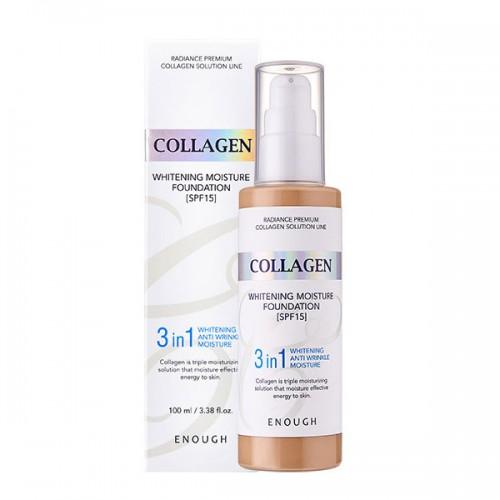 Осветляющий увлажняющий тональный крем с коллагеном Enough Collagen Whitening Moisture Foundation SPF15