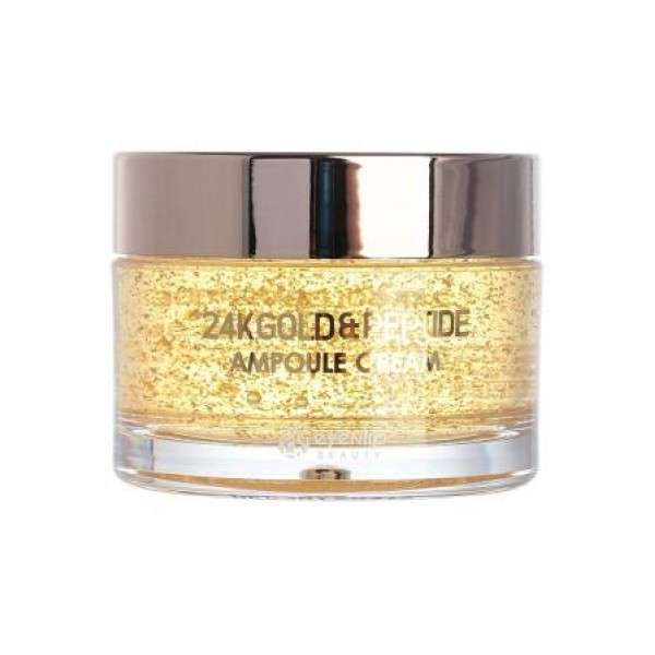 Ампульный крем для лица с золотом и пептидами Eyenlip 24K Gold & Peptide Ampoule Cream