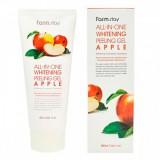 Осветляющий пилинг-гель на основе экстракта яблока FarmStay All-In-One Whitening Peeling Gel Apple