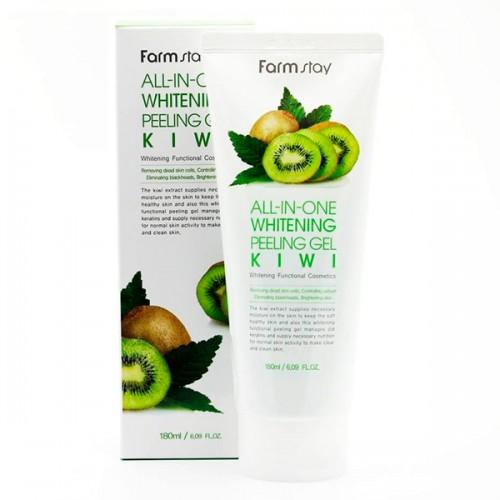 Осветляющий пилинг-гель на основе экстракта киви FarmStay All-In-One Whitening Peeling Gel Kiwi
