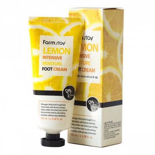 Интенсивный увлажняющий крем для ног с лимоном FarmStay Lemon Intensive Moisture Foot Cream