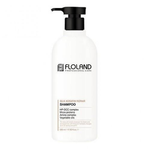 Восстанавливающий шампунь с кератином Floland Premium Silk Keratin Shampoo в Иркутске