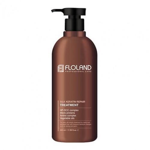 Восстанавливающая маска-бальзам для волос с кератином Floland Premium Silk Keratin Treatment в Иркутске