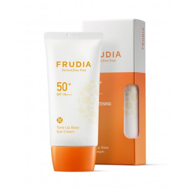 Солнцезащитная тональная крем-основа Frudia Tone Up Base Sun Cream SPF50+/PA+++