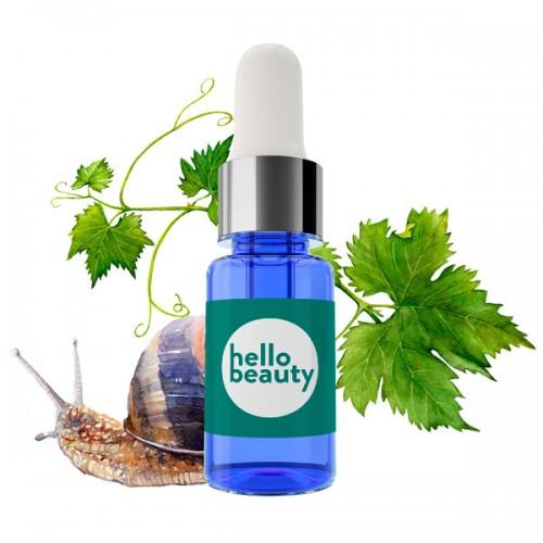 Восстанавливающая сыворотка для лица с муцином улитки Hello Beauty Snail Serum