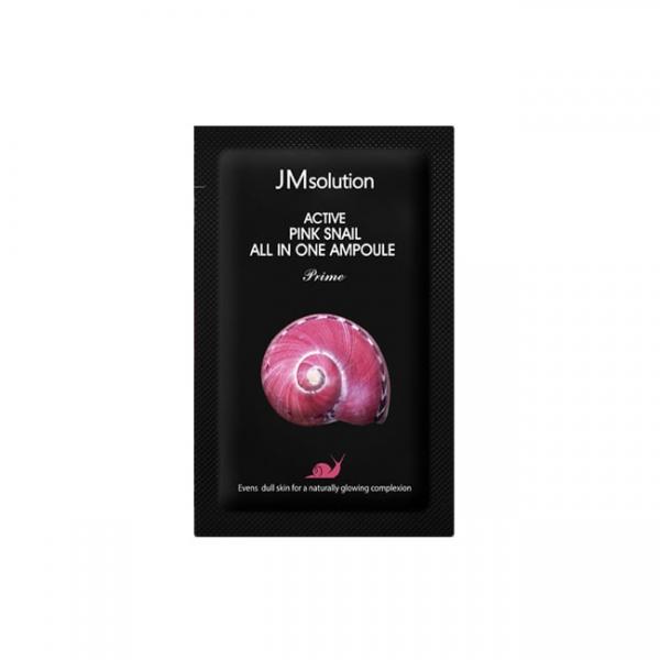 Сыворотка ампульная восстанавливающая с муцином улитки JMsolution Active Pink Snail All In One Ampoule Prime
