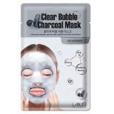 Кислородная маска-салфетка для лица с древесным углем Labute Clear Bubble Charcoal Mask