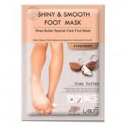 Питательная маска для ног с маслом ши Labute Shiny & Smooth Foot Mask
