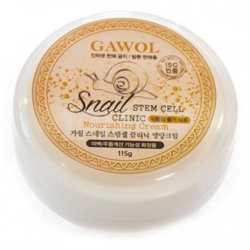Питательный крем со стволовыми клетками и улиточным муцином Juno Gawol Snail Stem Cell Clinic Nourishing Cream