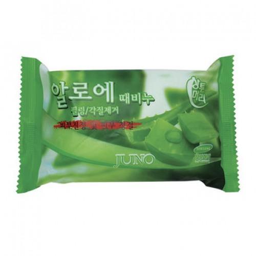 Косметическое пилинг-мыло c алоэ Juno Aloe Peeling Soap
