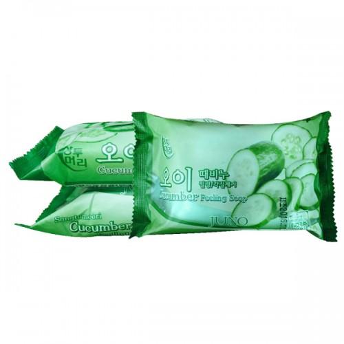 Косметическое пилинг-мыло c огурцом Juno Cucumber Peeling Soap в Иркутске