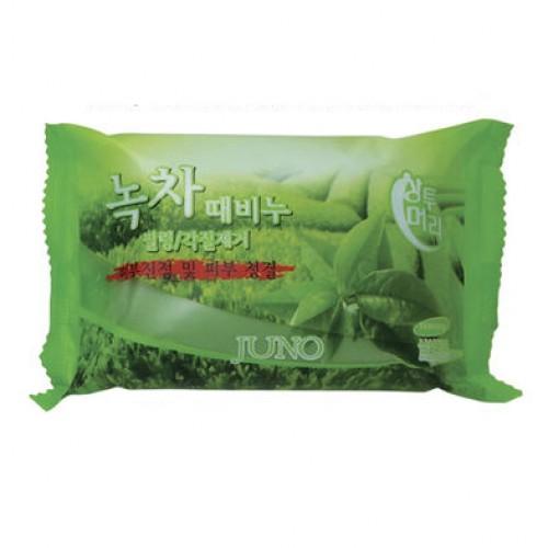 Косметическое пилинг-мыло c зеленым чаем Juno Green Tea Peeling Soap в Иркутске