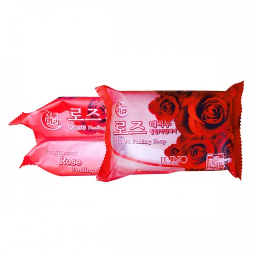 Косметическое пилинг-мыло c розой Juno Rose Peeling Soap