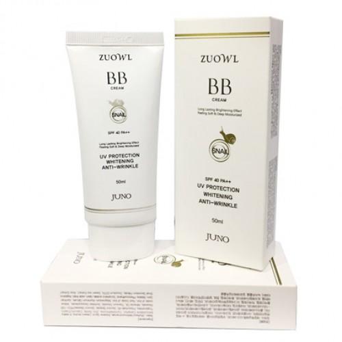 Антивозрастной улиточный BB крем Juno Zuowl Whitheing Anti-Wrinkle Snail BB Cream