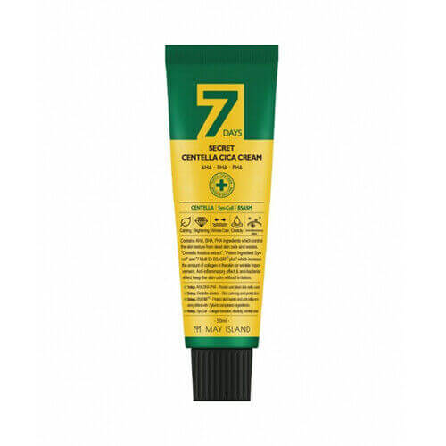 Восстанавливающий крем для проблемной кожи с кислотами и центеллой May Island 7 Days Secret Centella Cica Cream