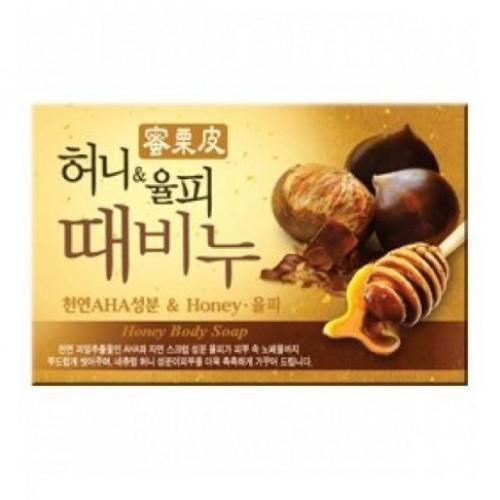 Косметическое мыло-скраб медовое Mukunghwa Honey Body Soap