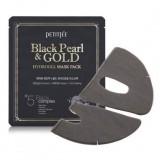 Гидрогелевая маска с черным жемчугом и золотом Petitfee Black Pearl & Gold Hydrogel Mask Pack