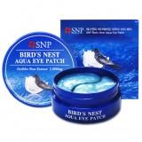Маска-патч для глаз с ласточкиным гнездом SNP Bird's Nest Aqua Eye Patch