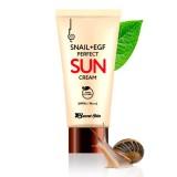 Солнцезащитный крем с муцином улитки и EGF Secret Skin Snail+EGF Perfect Sun Cream SPF50+