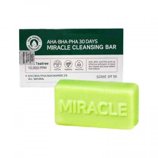 Мыло с кислотами для проблемной кожи Some By Mi AHA-BHA-PHA 30 Days Miracle Cleansing Bar