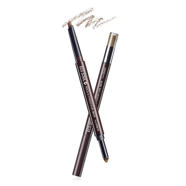 Карандаш-пудра для бровей The Saem Eco Soul Pencil & Powder Dual Brow