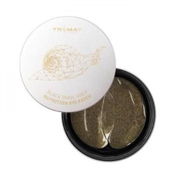 Разглаживающие патчи для глаз с муцином черной улитки Trimay Black Snail Gold Nutrition Eye Patch