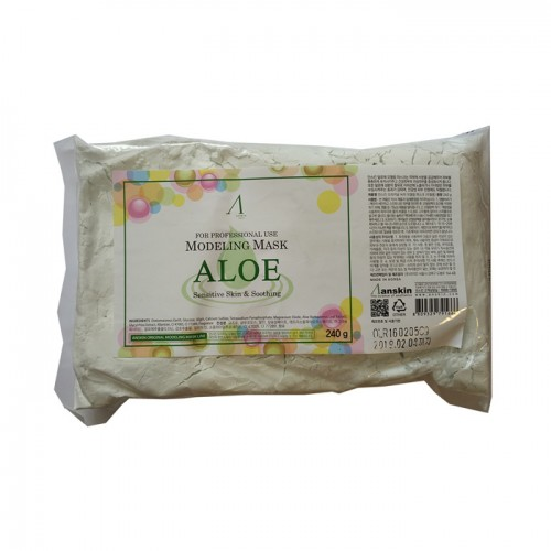 Альгинатная маска с алоэ Anskin Modeling Mask Aloe - пакет 240 г в Иркутске