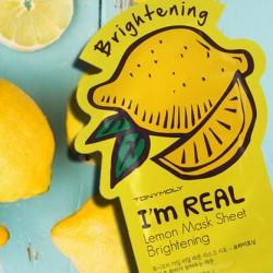 Лимонная маска Tony Moly I'm Real Mask Sheet В ПОДАРОК при покупке от 1700 рублей!