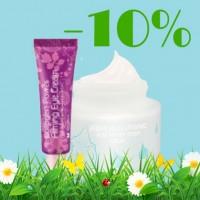 C 24 по 28 апреля - скидка 10% на все кремы для лица и век!