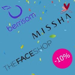 Брендовый марафон: -10% на Missha, Berrisom и The Face Shop!