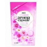 Кондиционер для белья с ароматом розы CJ Lion Aroma Capsule Pink Rose Softener - 300 мл