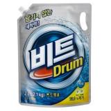 Жидкое средство для стирки автомат мягкая упаковка CJ Lion Beat Drum - 2000 мл