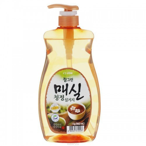 Средство для мытья посуды, фруктов и овощей с японским абрикосом CJ Lion Charmgreen J. Apricot Dish Washing - 960 мл