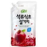 Средство для мытья посуды, фруктов и овощей с гранатом CJ Lion Pomegranate Vinegar Dish Soap - 860 мл