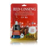 Маска-салфетка для лица с красным женьшенем Ekel Red Ginseng Ultra Hydrating Essence Mask