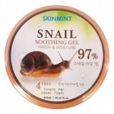 Универсальный улиточный гель Skinmint Snail Soothing Gel 97%