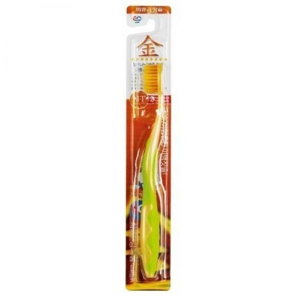 Зубная щётка для детей от 7 лет с ионами золота EQ Maxon Wellbeing Gold Toothbrush