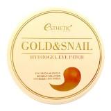 Маска-патч для глаз с золотом и муцином улитки Esthetic House Gold & Snail Hydrogel Eye Patch