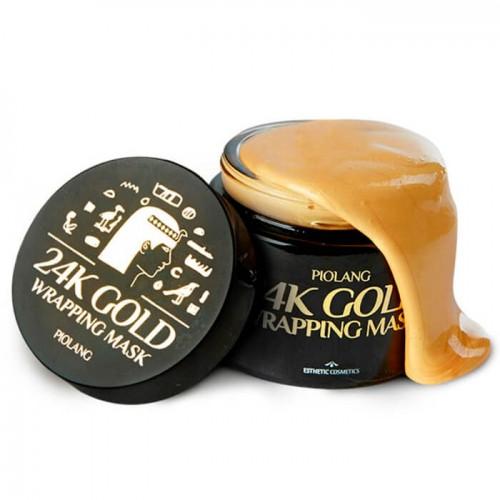 Маска для лица с золотом Esthetic House Piolang 24k Gold Wrapping Mask